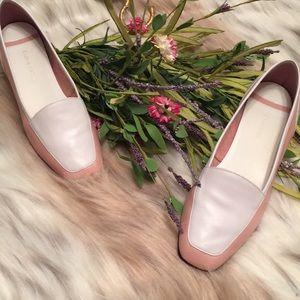 Enzo Angiolini Brazil size 9 pink white leather 🌸